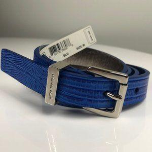 Michael Michael Kors Blue Leather Belt - Size M